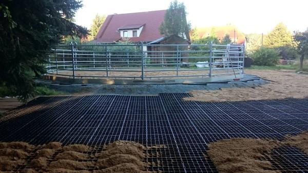 Bodenbefestigung mit Rasengitterplatten von Ridcon